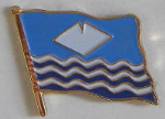Isle of Wight County Flag Enamel Pin Badge